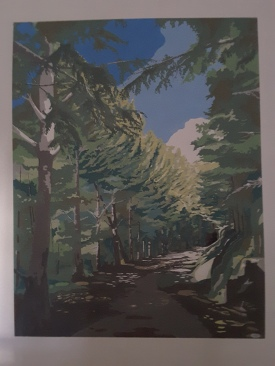 Dipinto su parete cm105x140